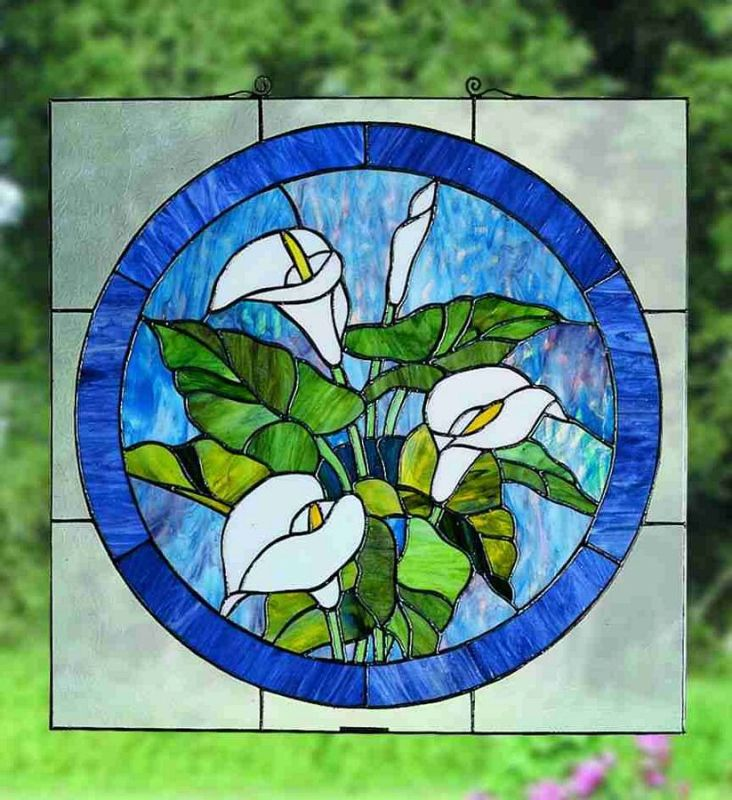 Meyda Tiffany 23866 Stained Glass Tiffany Window from the Woodland