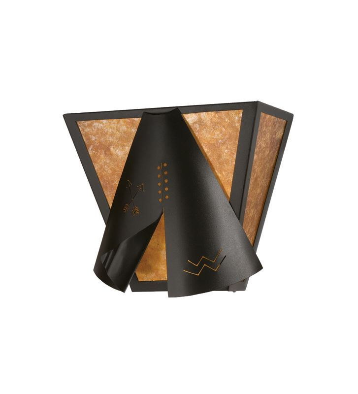 """Meyda Tiffany 23942 13"""" Wide 2 Light Wall Sconce with Mica Glass Shade"""