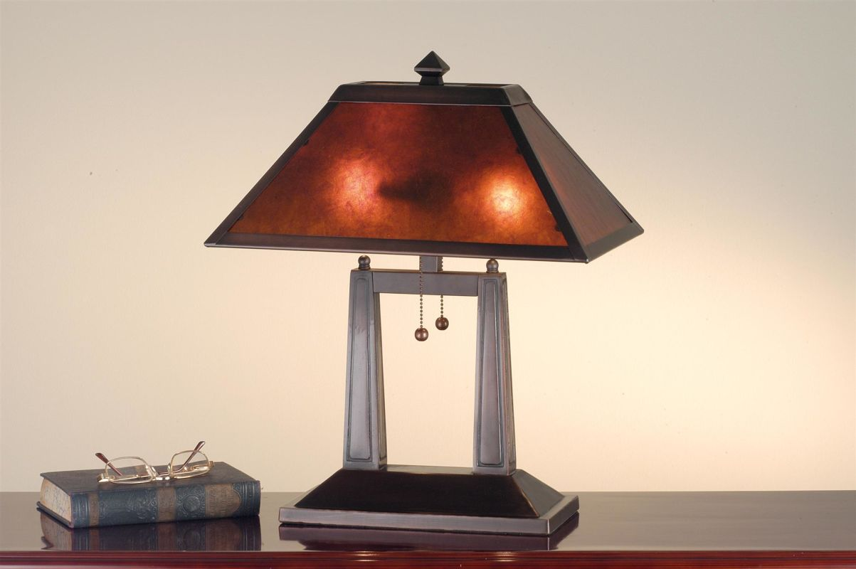 Meyda Tiffany 24216 Craftsman / Mission Table Lamp from the Bungalow