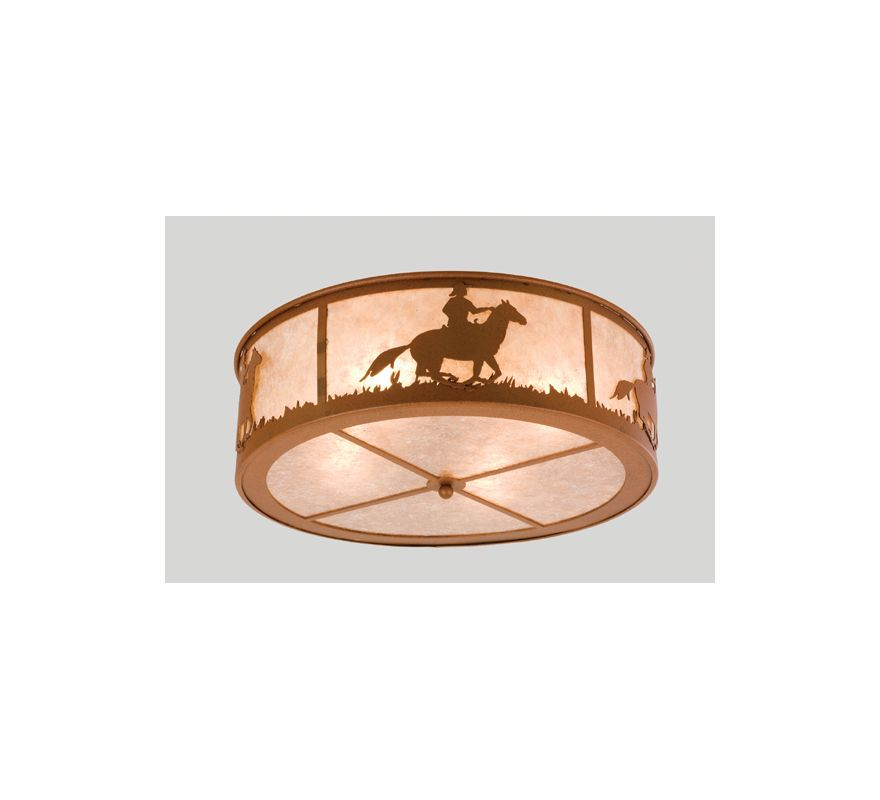 Meyda Tiffany 24460 Four Light Flush mount Ceiling Fixture Rust Indoor