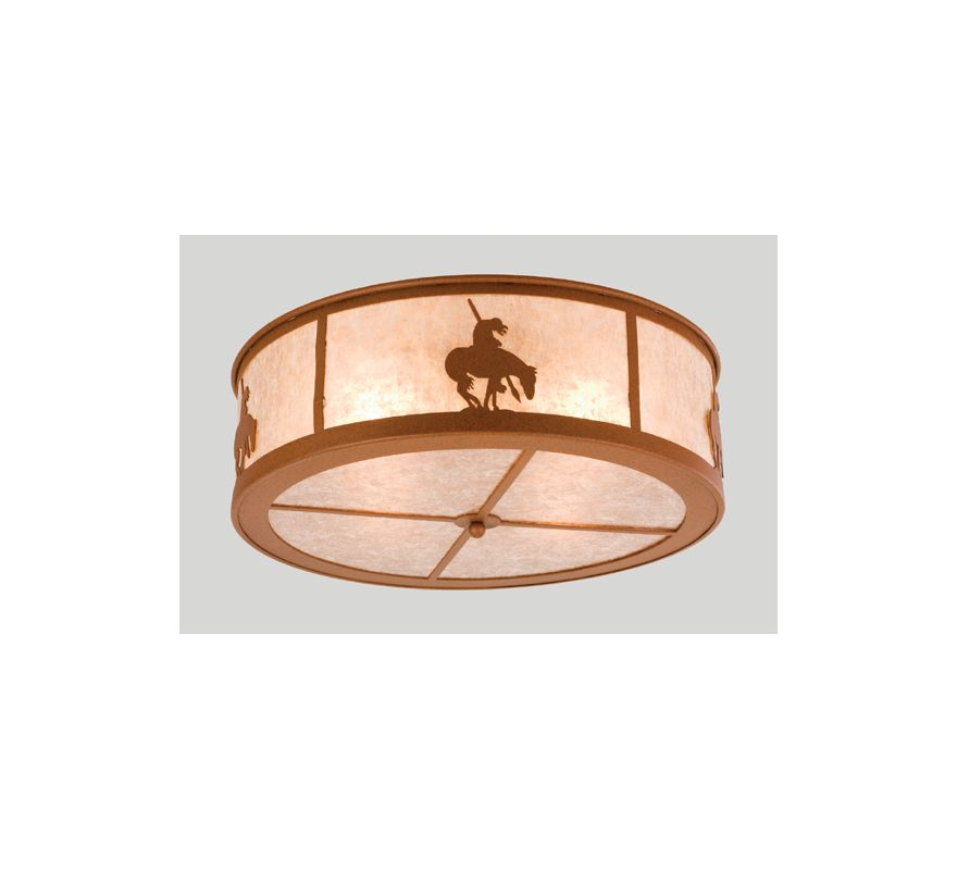 Meyda Tiffany 24461 Four Light Flush mount Ceiling Fixture Rust Indoor