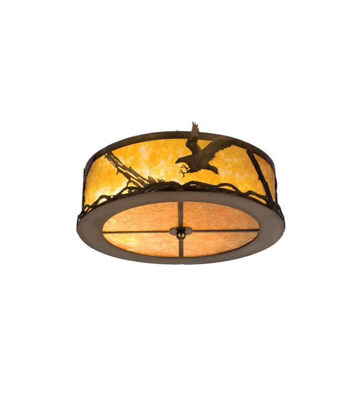 Meyda Tiffany 24465 Two Light Flush mount Ceiling Fixture Antique