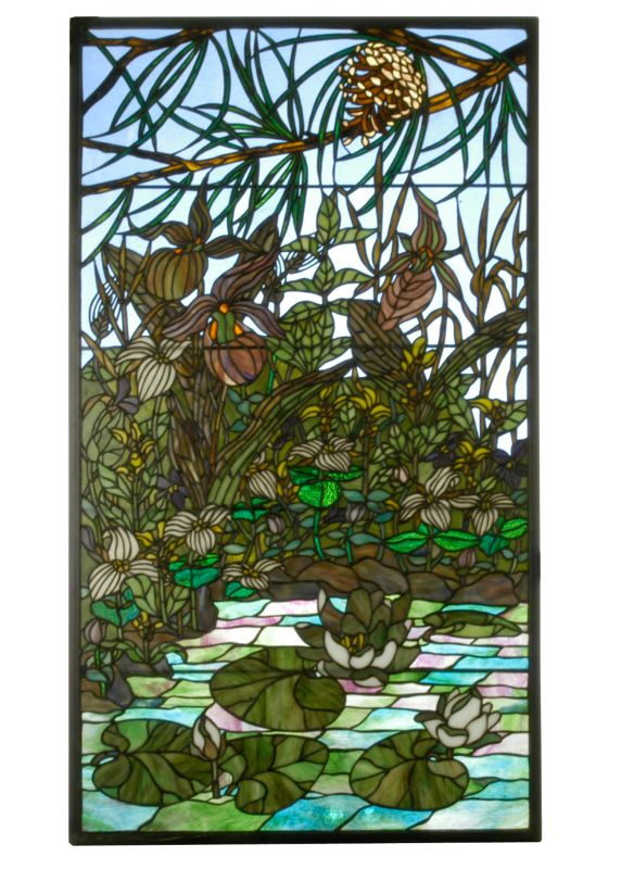 Meyda Tiffany 24495 Tiffany Rectangular Stained Glass Window Shade