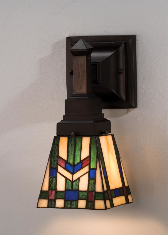 Stained Glass Light Fixtures Wall Sconces : Meyda Tiffany 25894 Tiffany Glass Stained Glass / Tiffany Down Lighting Wall Sconce from the ...