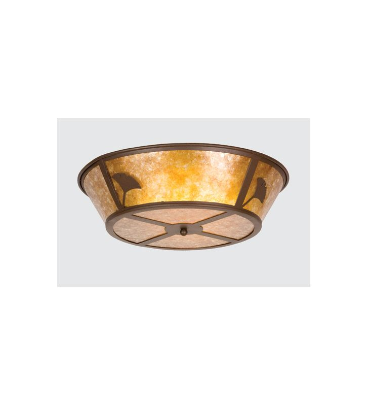 Meyda Tiffany 26221 Four Light Flush mount Ceiling Fixture Caf�© Noir