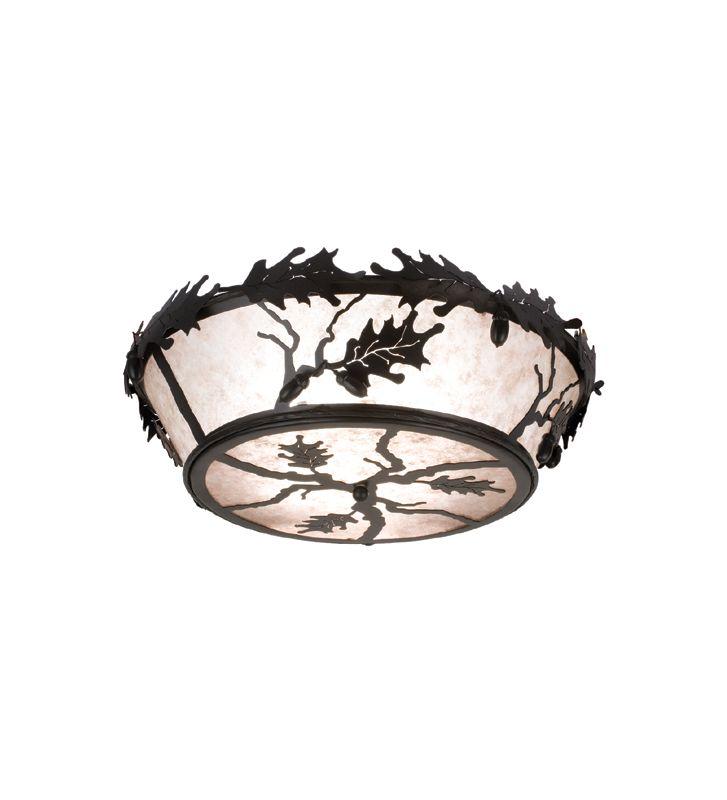 Meyda Tiffany 26224 Four Light Flush mount Ceiling Fixture Black