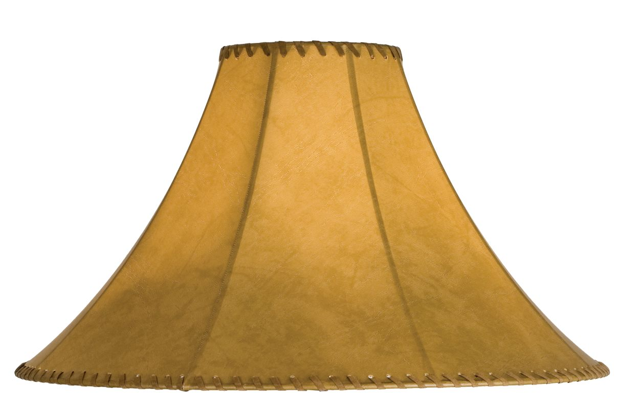 Meyda Tiffany 26353 Single Faux Leather Tan Shade Faux Leather