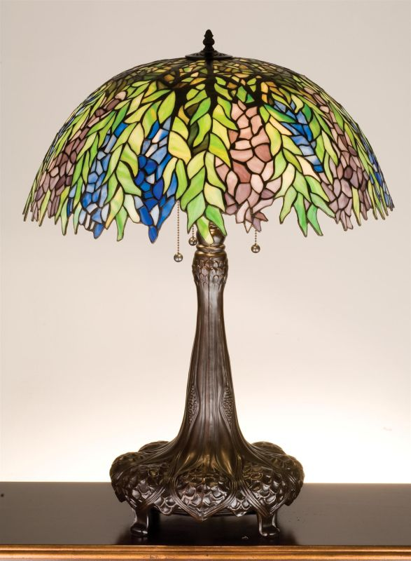Meyda Tiffany 26575 Stained Glass / Tiffany Table Lamp from the Honey
