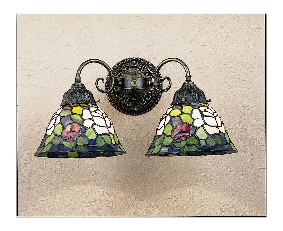 Meyda Tiffany 26604 Stained Glass / Tiffany Reversible Wall Sconce