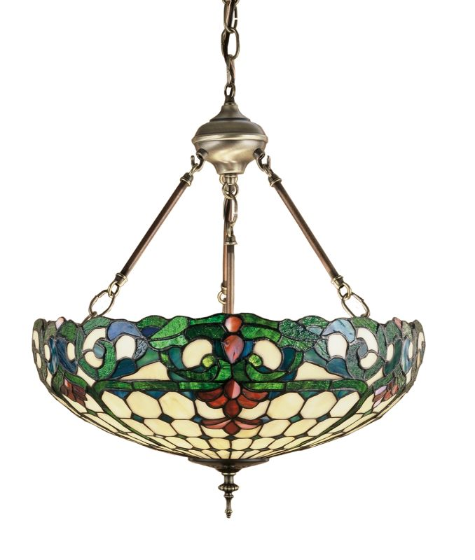 Meyda Tiffany 26694 Stained Glass / Tiffany Bowl Pendant from the