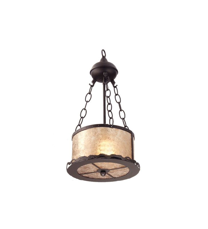 Meyda Tiffany 26924 Single Light Bowl Pendant Timeless Bronze Indoor