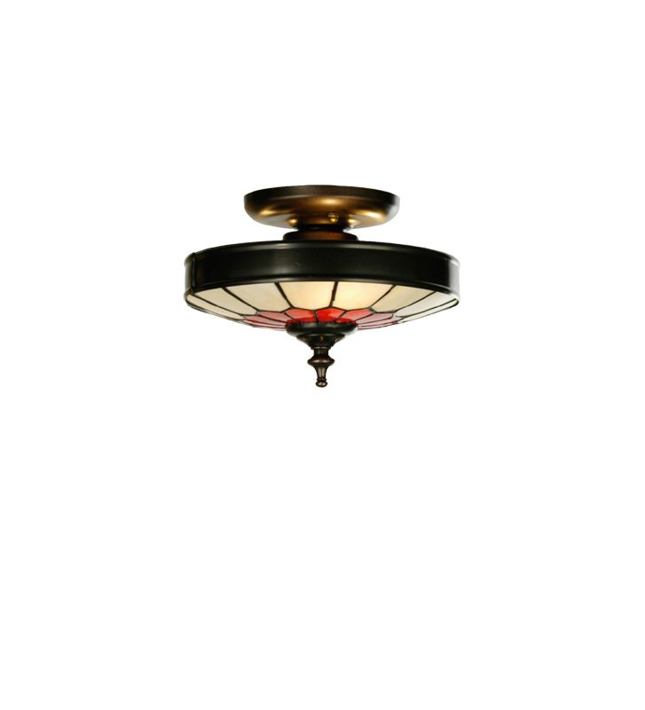 Meyda Tiffany 27058 Tiffany Three Light Flush mount Ceiling Fixture