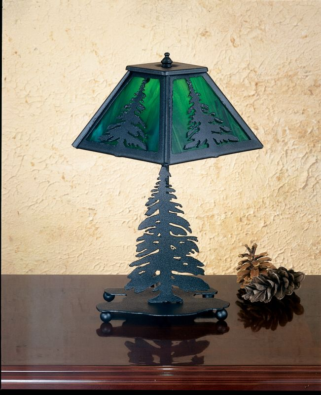 Meyda Tiffany 27107 Accent Table Lamp from the Pine Tree Collection