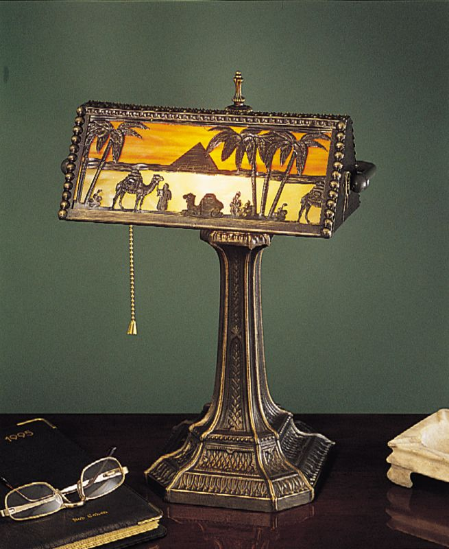 Meyda Tiffany 27142 Desk Lamp from the Camel Caravan Collection