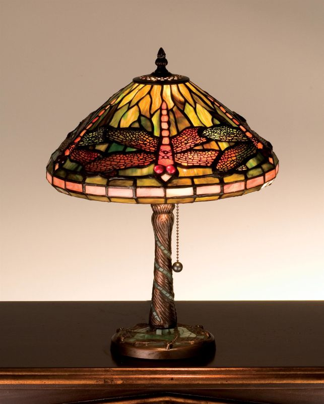 Meyda Tiffany 27158 Stained Glass / Tiffany Accent Table Lamp from the
