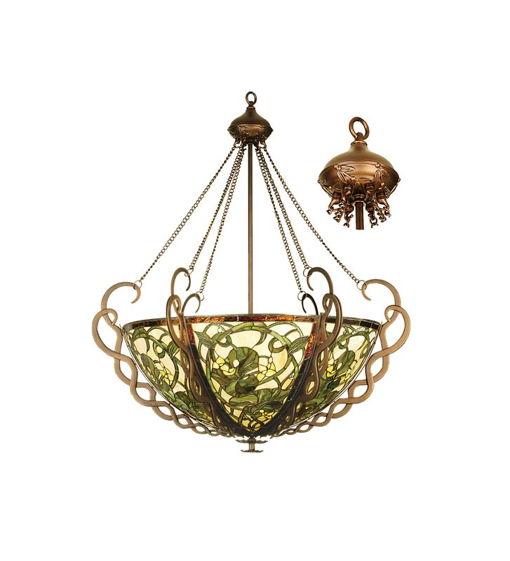 Meyda Tiffany 27227 Tiffany Five Light Down Lighting Bowl Pendant