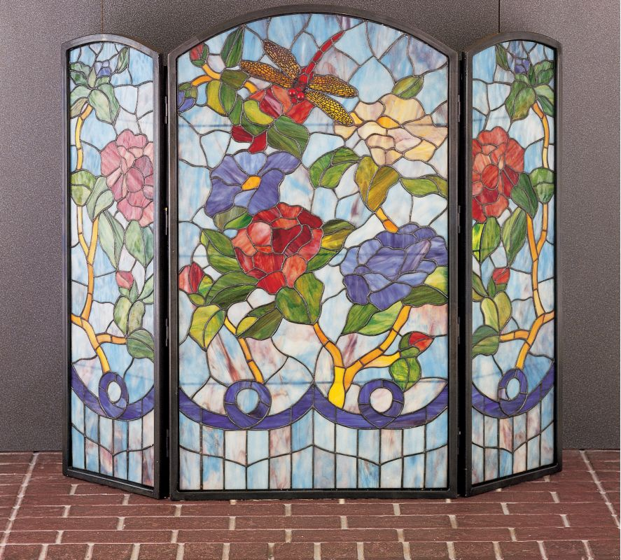 Meyda Tiffany 27234 Stained Glass / Tiffany Fireplace Screen from the