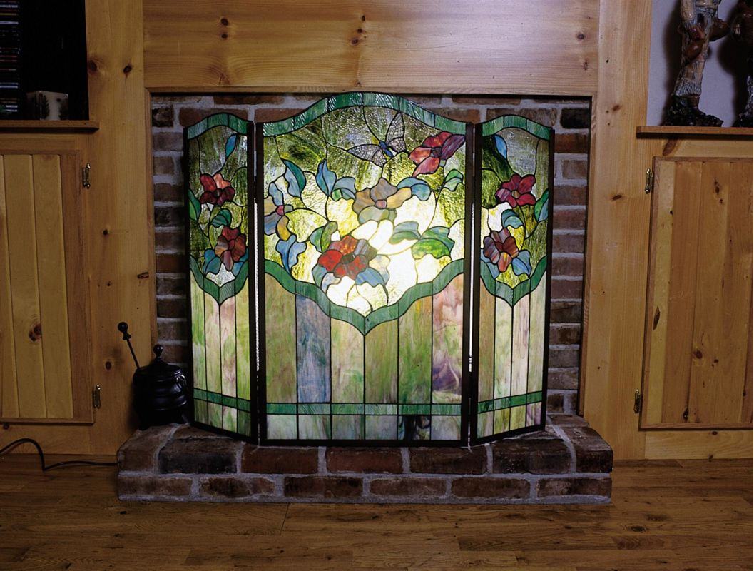 Meyda Tiffany 27237 Stained Glass / Tiffany Fireplace Screen from the