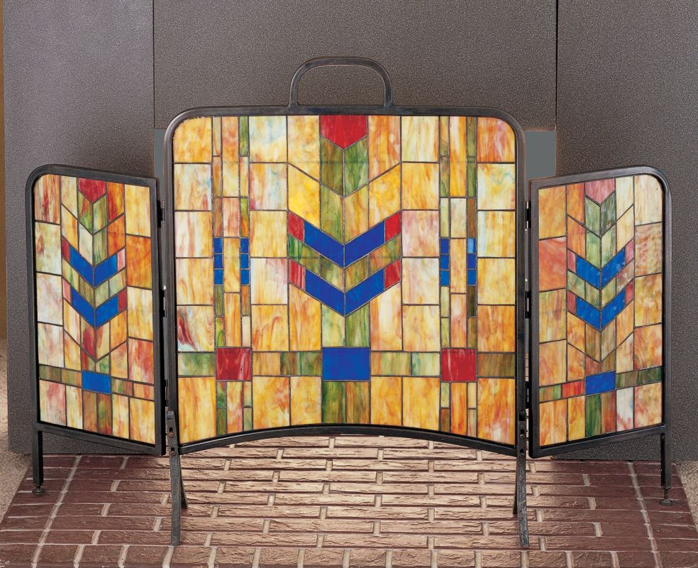 Meyda Tiffany 27241 Stained Glass / Tiffany Fireplace Screen from the