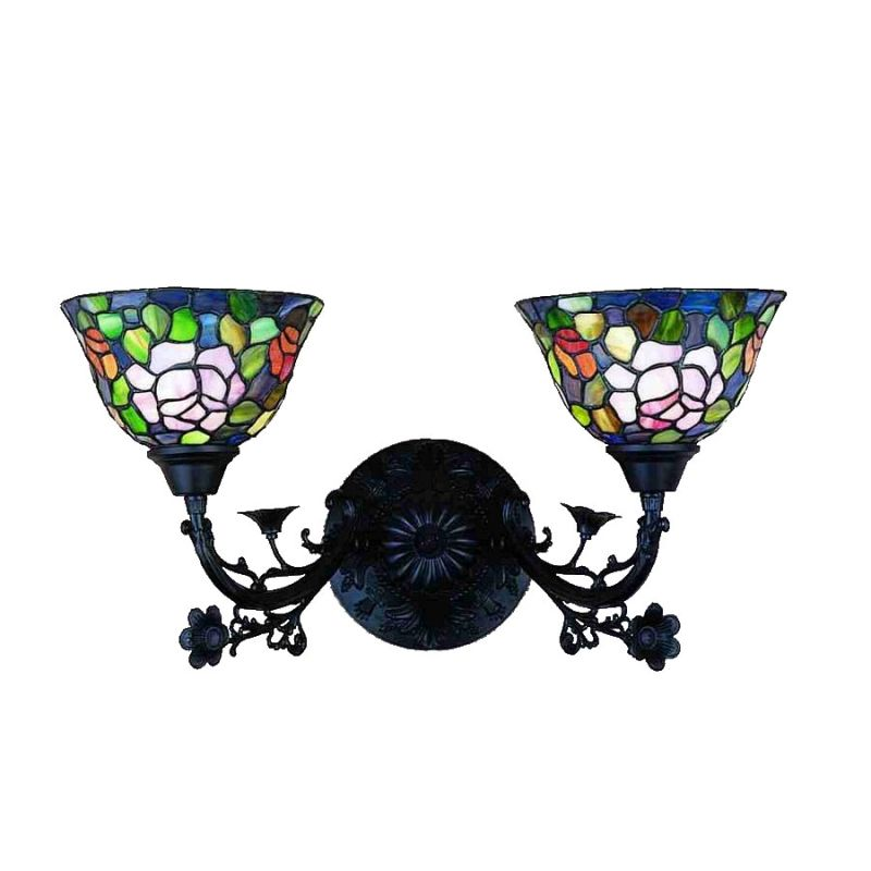 "Meyda Tiffany 27392 Stained Glass / Tiffany 2 Light 21"" Wide Bathroom"