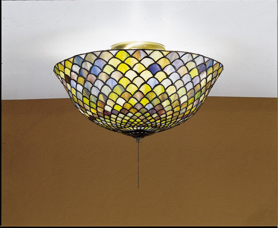 Meyda Tiffany 27437 Stained Glass / Tiffany Flushmount Ceiling Fixture