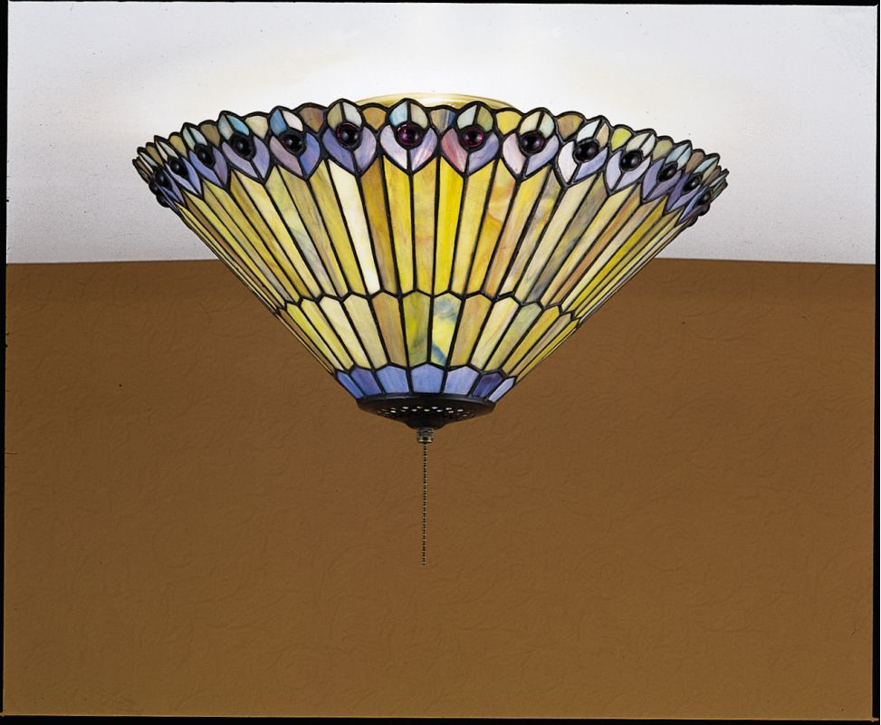 Meyda Tiffany 27438 Stained Glass / Tiffany Flushmount Ceiling Fixture