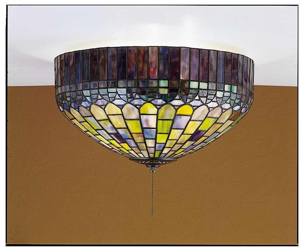 Meyda Tiffany 27444 Stained Glass / Tiffany Flushmount Ceiling Fixture