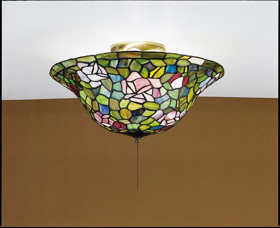 Meyda Tiffany 27445 Stained Glass / Tiffany Semi-Flush Ceiling Fixture