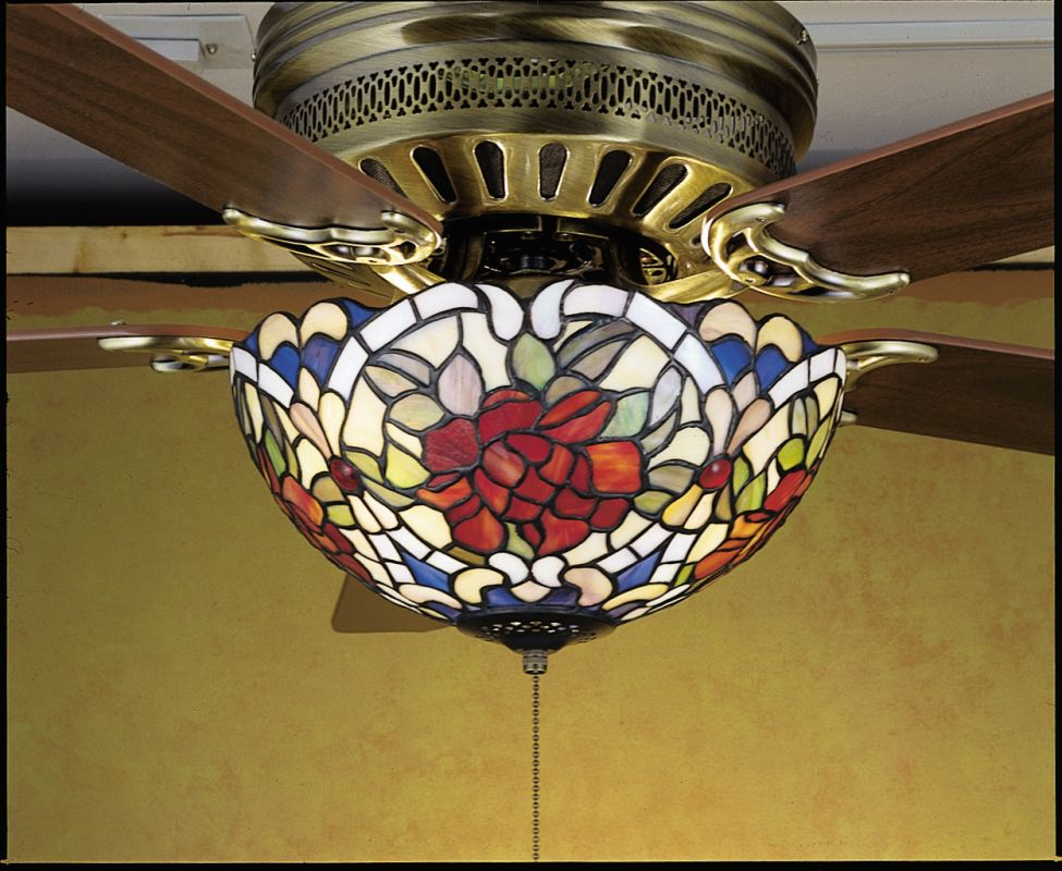 Meyda Tiffany 27458 Stained Glass / Tiffany Fan Light Kit from the