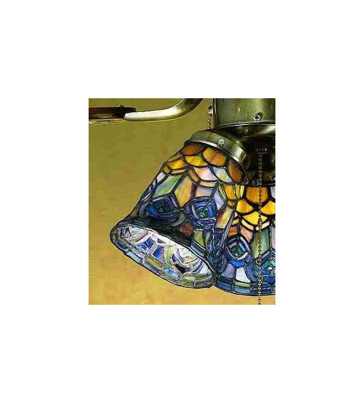 Meyda Tiffany 27459 Stained Glass / Tiffany Fan Light Kit Glassware