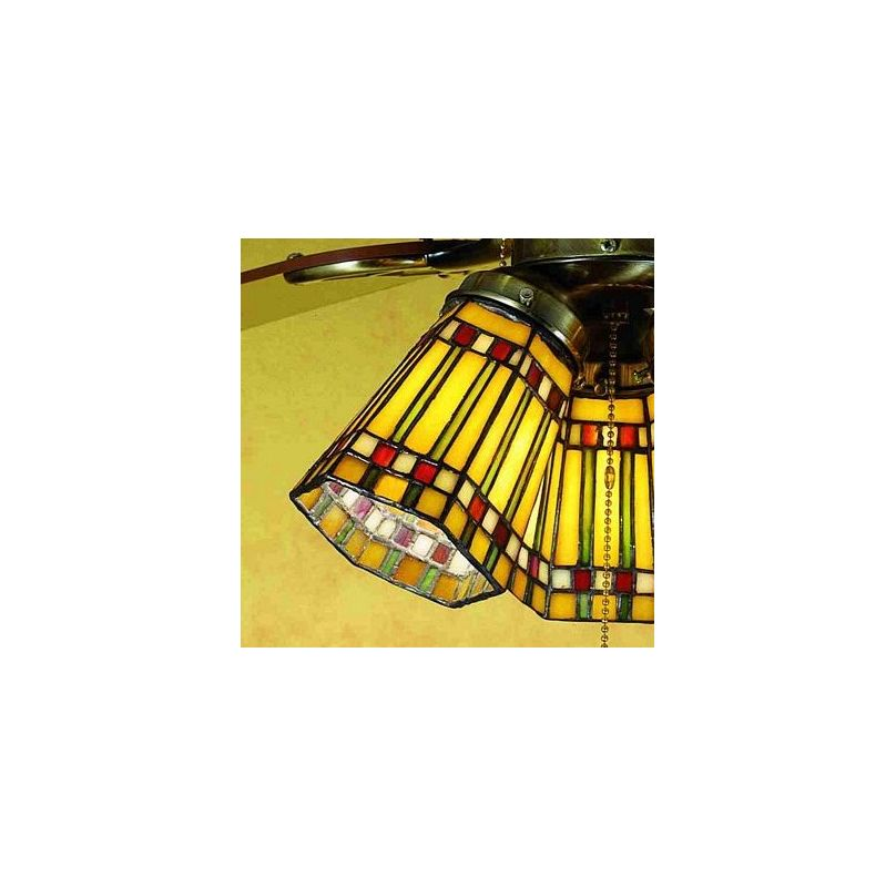 Meyda Tiffany 27463 Stained Glass / Tiffany Fan Light Kit Glassware Sale $64.80 ITEM: bci53304 ID#:27463 UPC: 705696274635 :