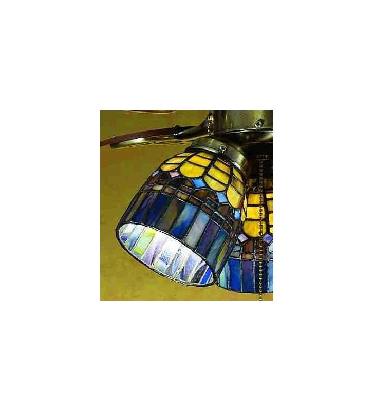Meyda Tiffany 27466 Stained Glass / Tiffany Fan Light Kit Glassware
