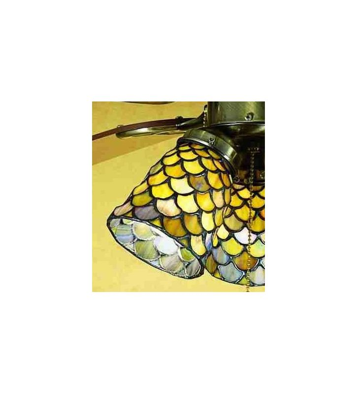 Meyda Tiffany 27470 Stained Glass / Tiffany Fan Light Kit Glassware