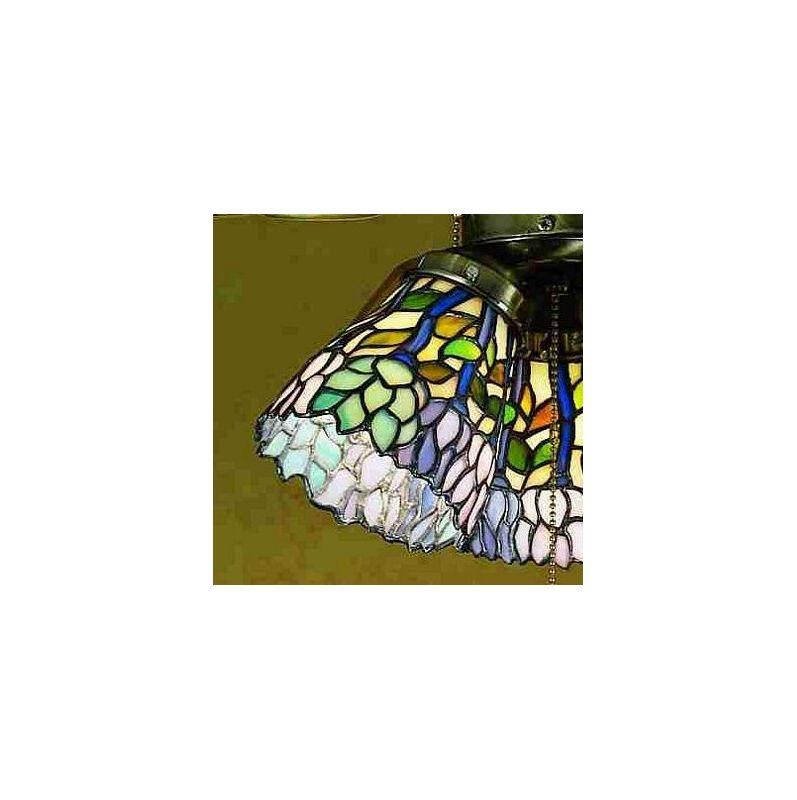 Meyda Tiffany 27476 Stained Glass / Tiffany Fan Light Kit Glassware