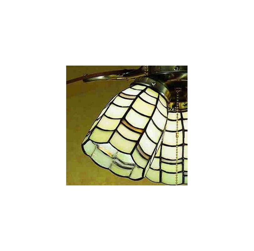 Meyda Tiffany 27479 Stained Glass / Tiffany Fan Light Kit Glassware
