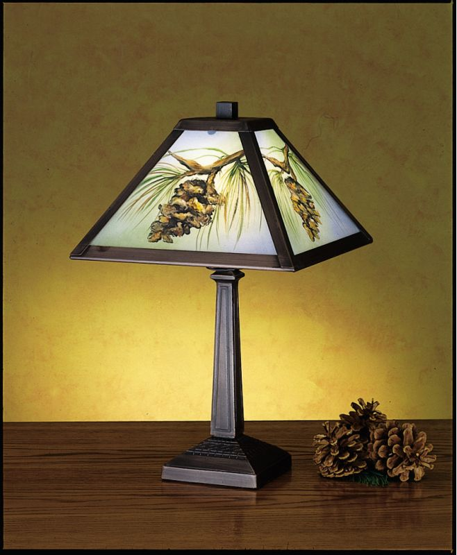Meyda Tiffany 27498 Accent Table Lamp from the Pinecones Collection