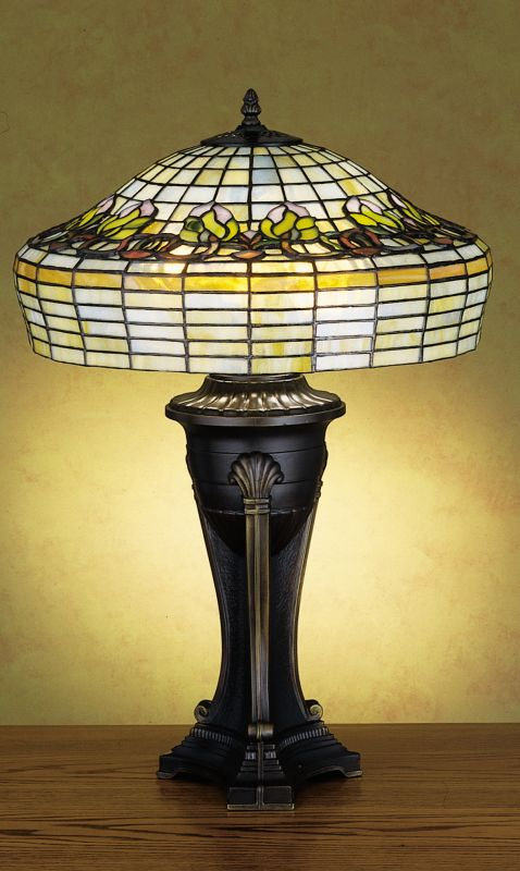 Meyda Tiffany 27522 Stained Glass / Tiffany Table Lamp from the Handel