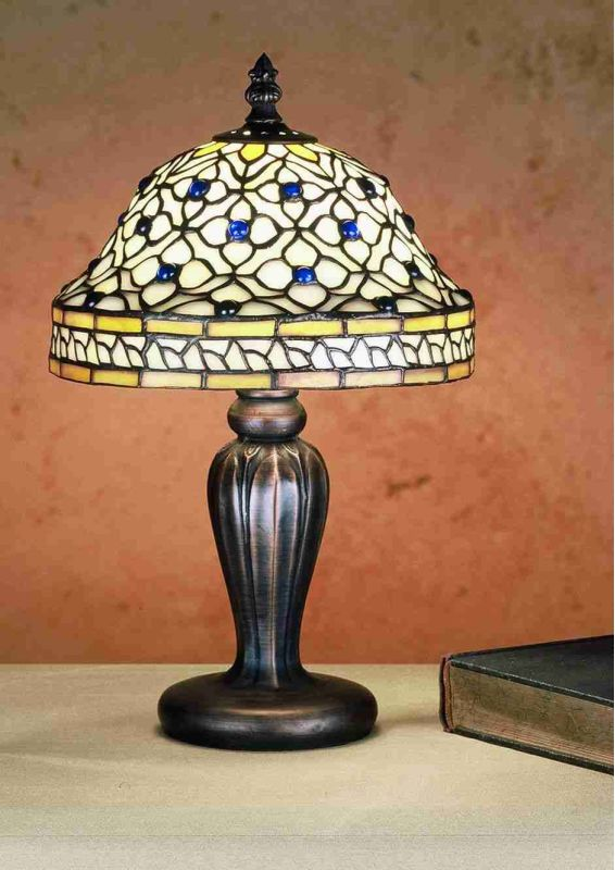 Meyda Tiffany 27535 Stained Glass / Tiffany Accent Table Lamp from the