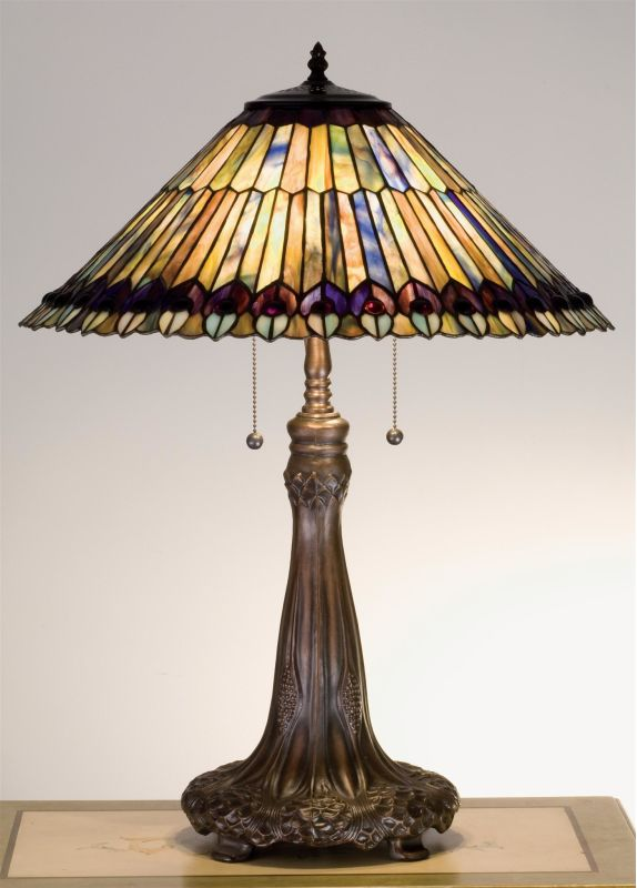 Meyda Tiffany 27562 Stained Glass / Tiffany Accent Table Lamp from the