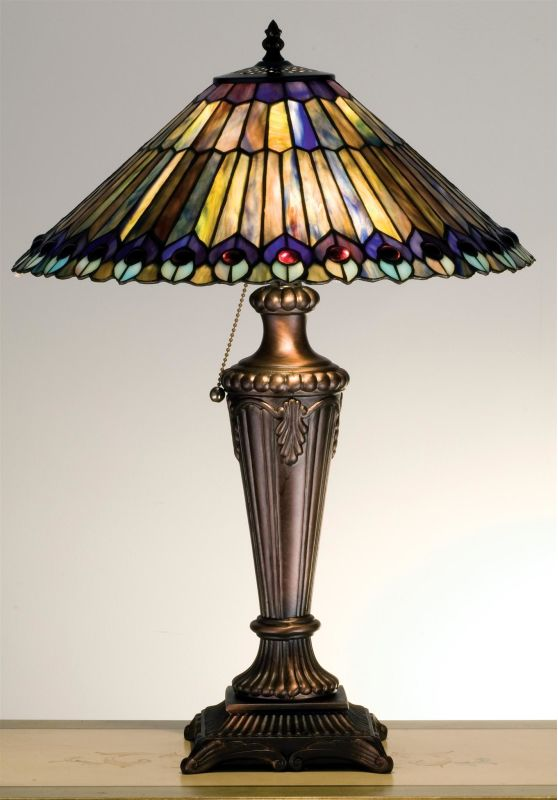 Meyda Tiffany 27563 Stained Glass / Tiffany Table Lamp from the