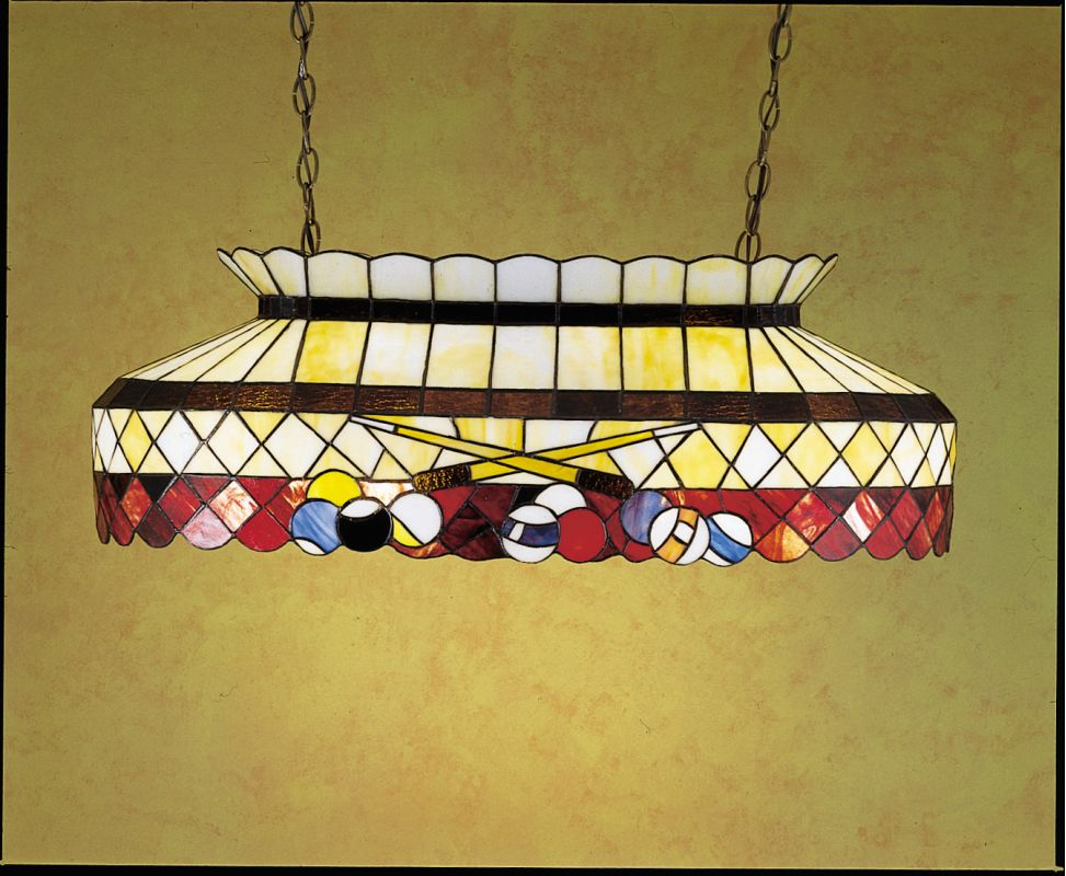 Meyda Tiffany 27616 Stained Glass / Tiffany Island / Billiard Fixture