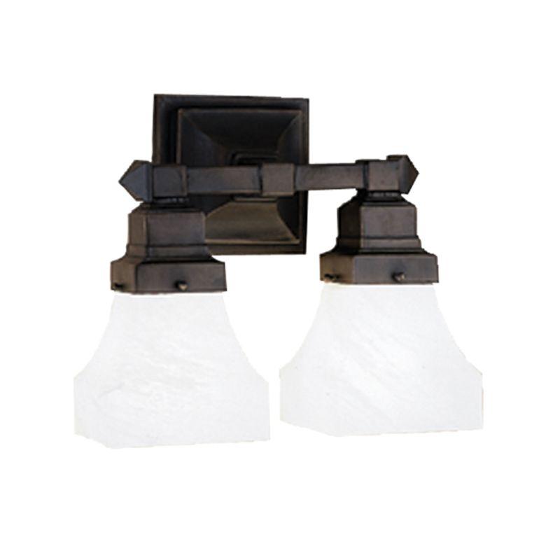 Tiffany Bathroom Lighting: Meyda Tiffany 27622 Mahogany Bronze Craftsman / Mission 2
