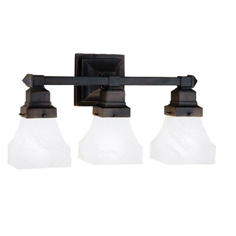 Tiffany Bathroom Lighting: Meyda Tiffany 27623 Mahogany Bronze Craftsman / Mission 3