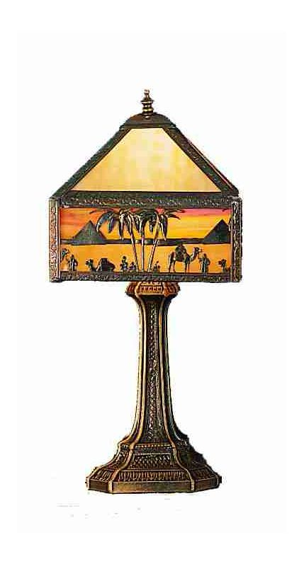 Meyda Tiffany 28344 Accent Table Lamp from the Camel Caravan