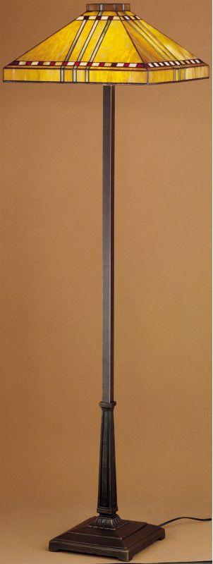 Meyda Tiffany 28397 Craftsman / Mission Floor Lamp from the Prairie