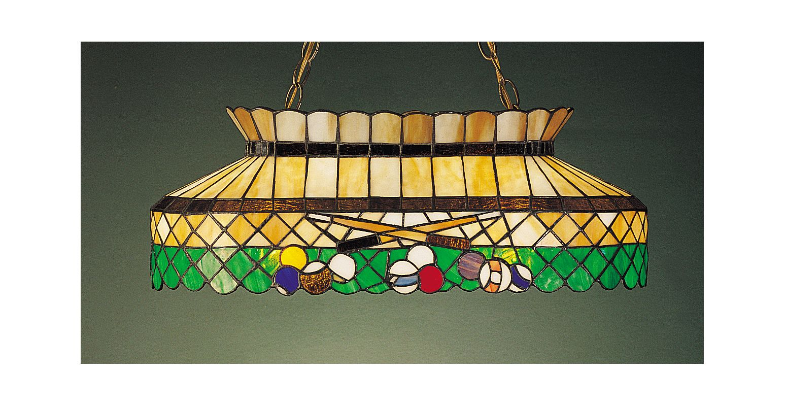 Meyda Tiffany 28500 Stained Glass / Tiffany Island / Billiard Fixture
