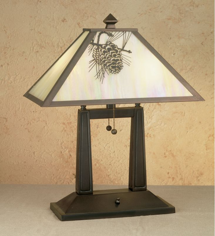 Meyda Tiffany 28643 Craftsman / Mission Table Lamp from the Craftsman
