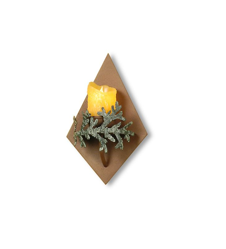"Meyda Tiffany 29330 9"" Wide Single Light Wall Sconce Rust Indoor"