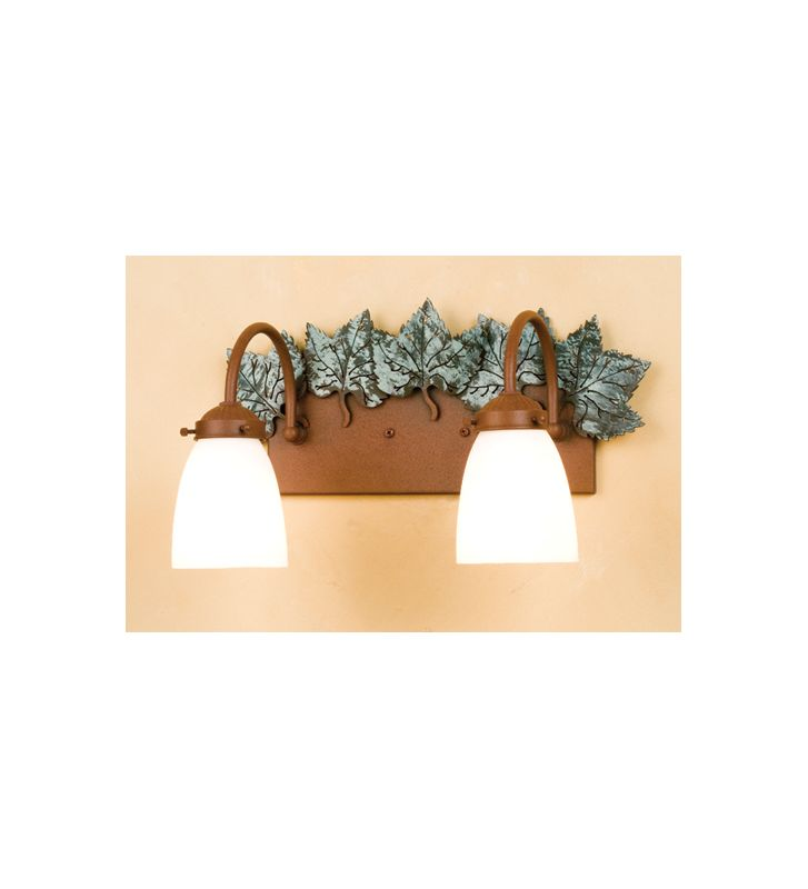 Meyda Tiffany 29495 Two Light Down Lighting Wall Sconce Rust Indoor