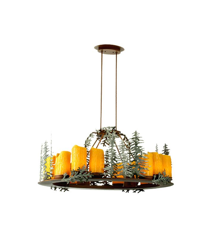"Meyda Tiffany 29523 Fourteen Light ""Trees"" Chandelier Rust Indoor Sale $2996.40 ITEM: bci626003 ID#:29523 UPC: 705696295234 :"